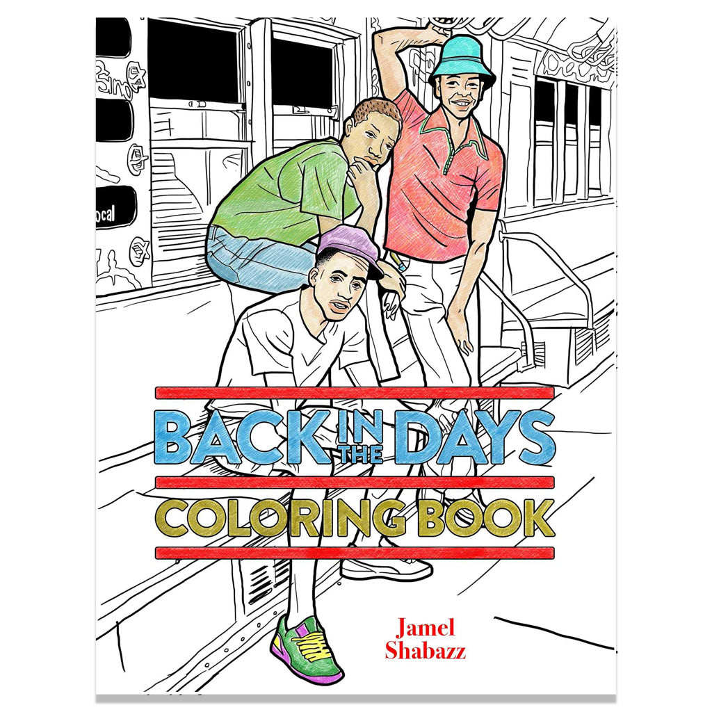 Back in the Days Coloring Book front cover image