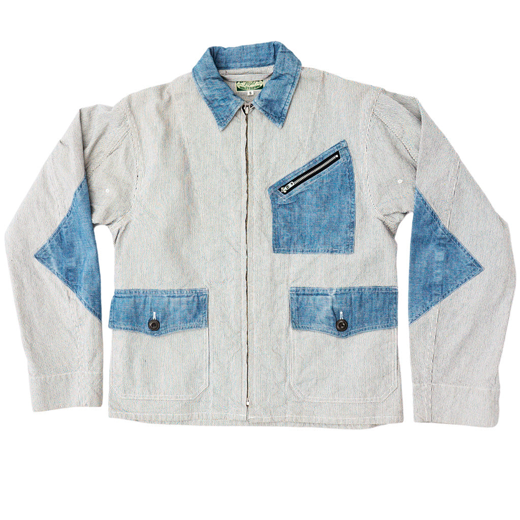 Transnomadica Blue Blue Patch Pocket Zip Jacket Small