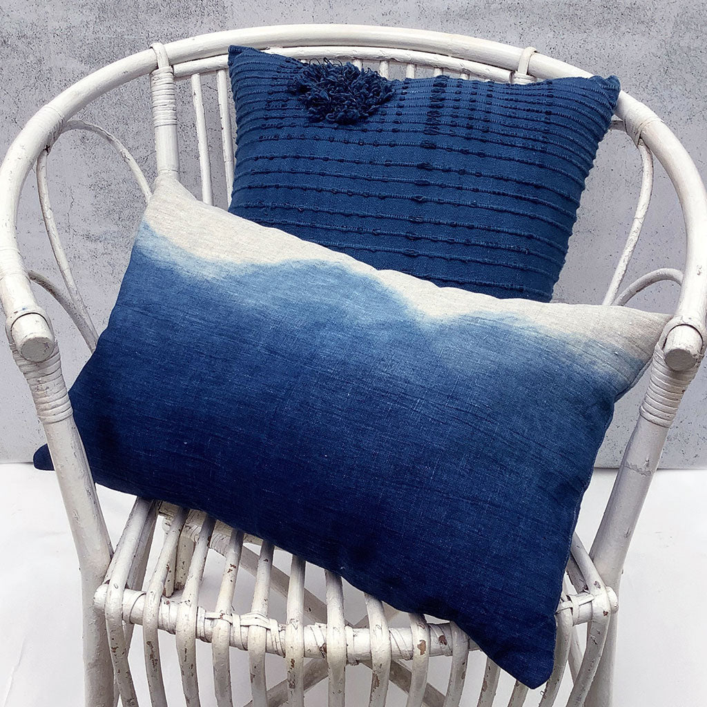 Dip Dyed 'Blue Mountains' Pillow Cover by Lava Living