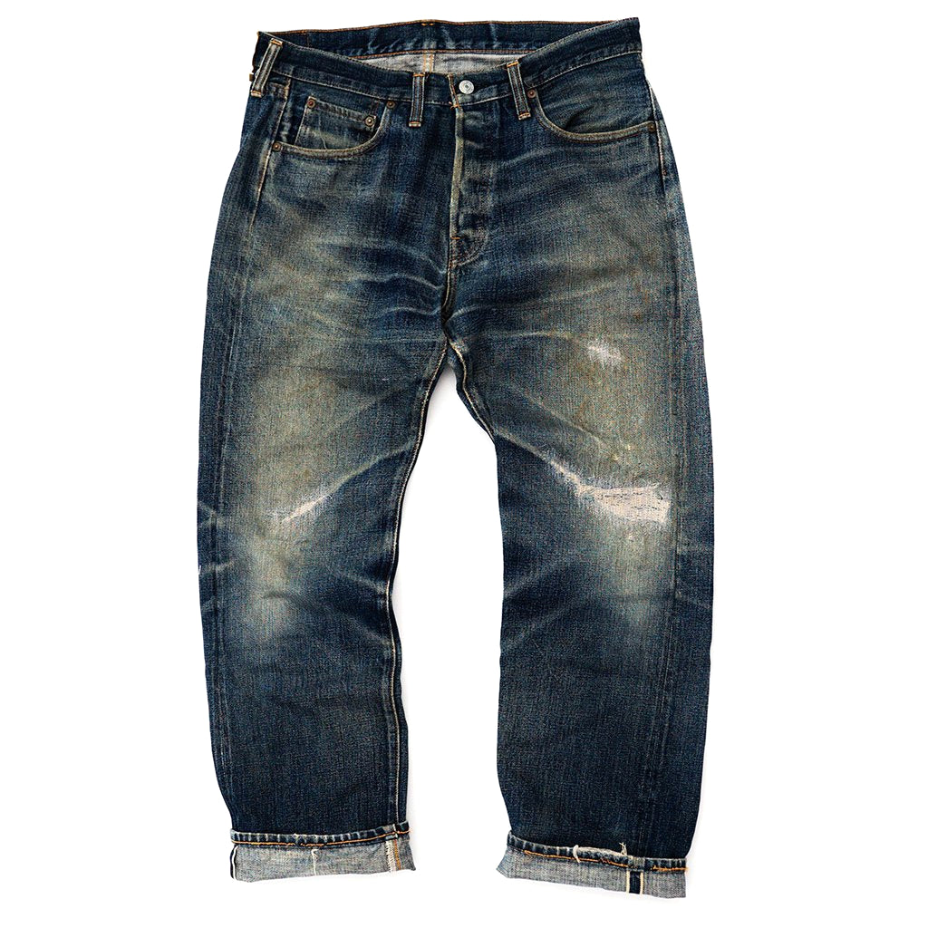 Transnomadica Denime 66 Type Selvedge Jeans W33 x L29 Cuffed