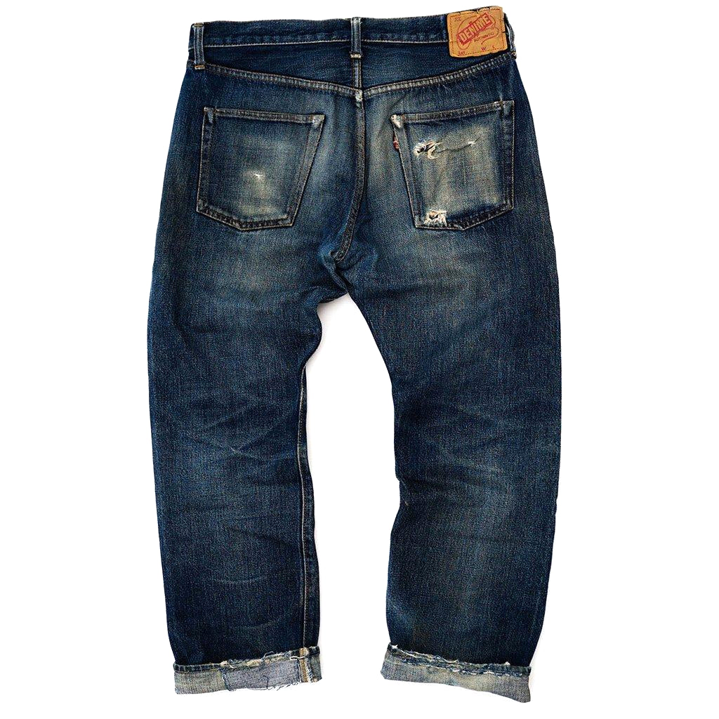 Transnomadica Denime 66 Type Selvedge Jeans W34 x L28 Cuffed