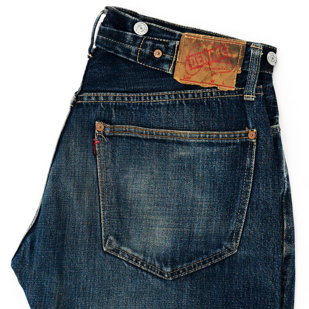 Transnomadica Denime 805 Type Cinch-Back Selvedge Jeans W32 x L29 Cuffed