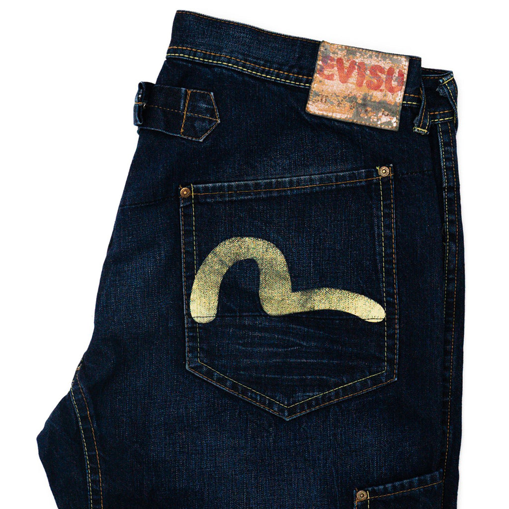 Transnomadica Evisu Japan Cinch-Back Selvedge Jeans W38 x L33 Cuffed