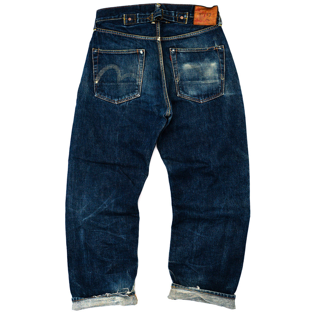 Transnomadica Evisu Japan No. 2. Cinch-Back Selvedge Jeans W30 x L28 Cuffed