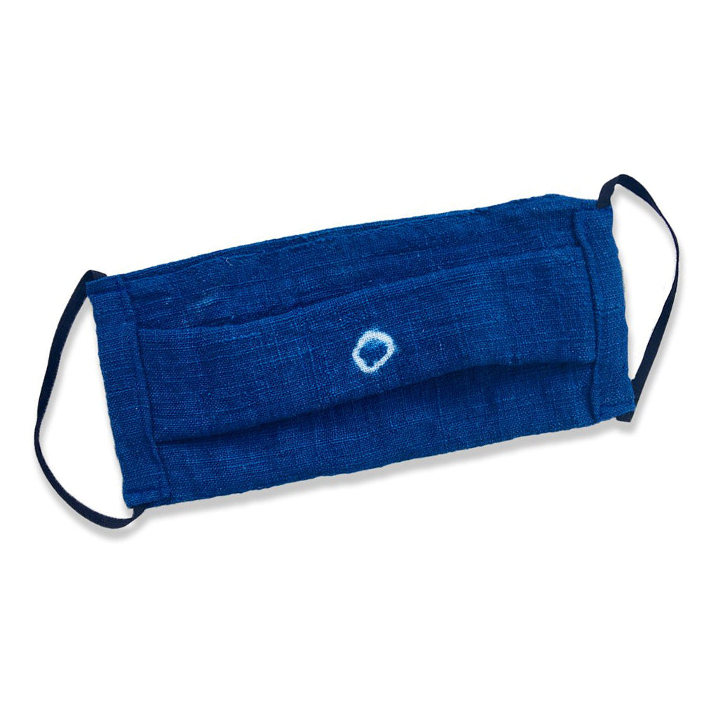 Indigo Cotton Face Mask (Small / Medium)