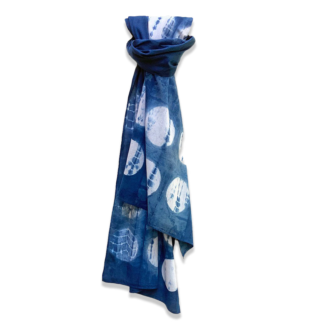Indigo Moon Shibori Scarf by Lava Living