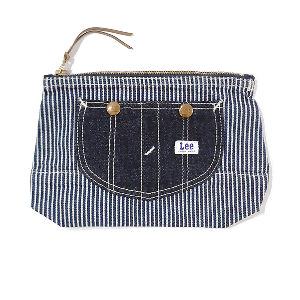 Lee Hickory Stripe Indigo Denim Mini Pouch