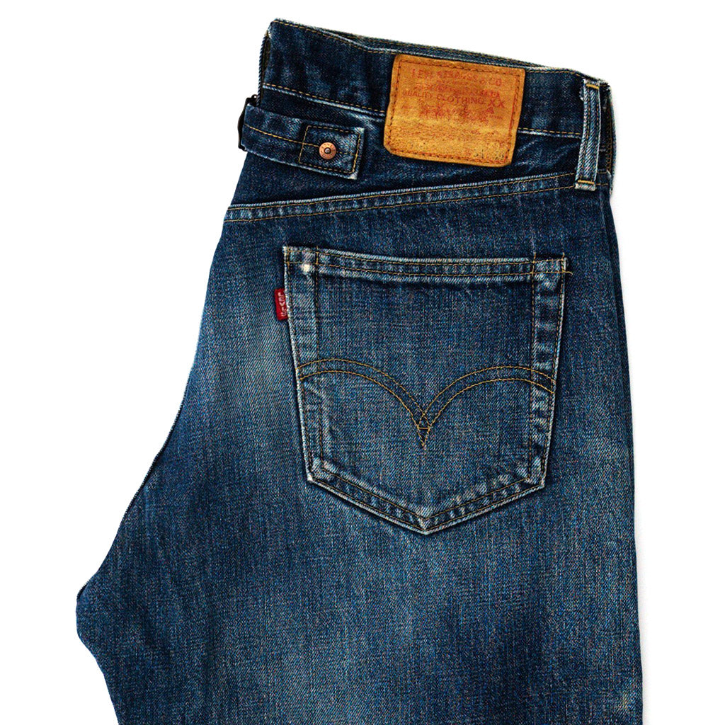 "Transnomadica Levi Japan 702 ""Cinch Back"" Big E Jeans W32 x L27 cuffed"