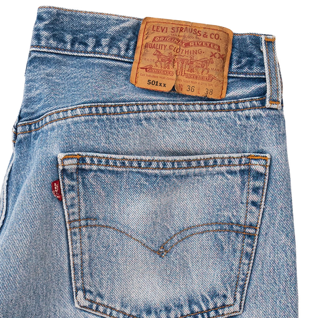 Transnomadica Levi's Button Fly 501 Jeans Made in USA W31 x L34 cuffed