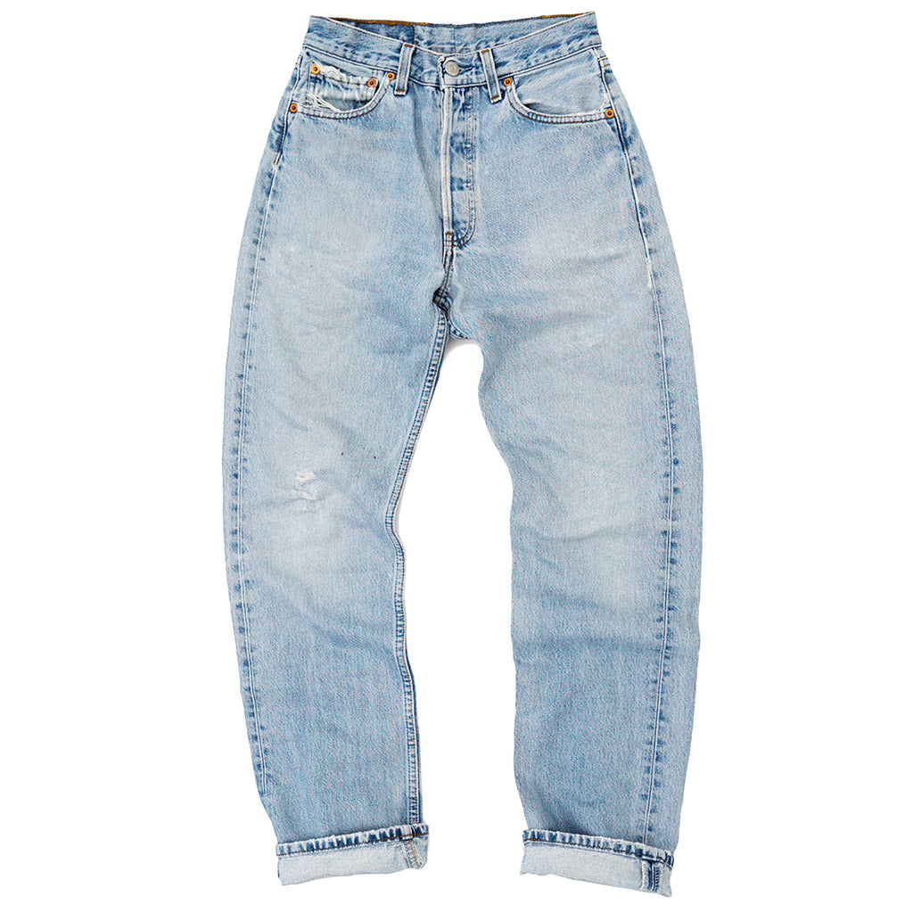 Transnomadica Levi's Button Fly 501 Jeans W26 x L31 Cuffed