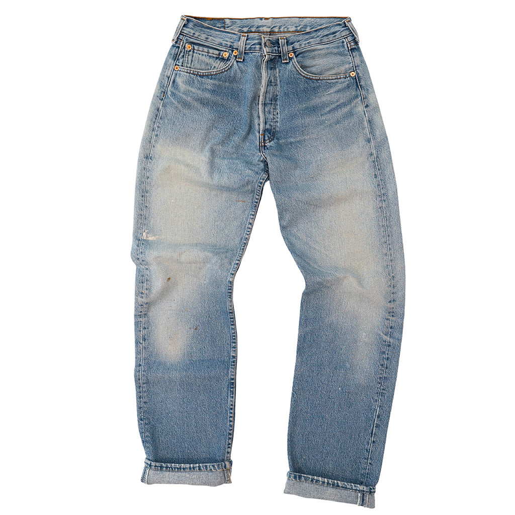 Transnomadica Levi's Button Fly 501 Lived In Jeans W30 x L33 Cuffed