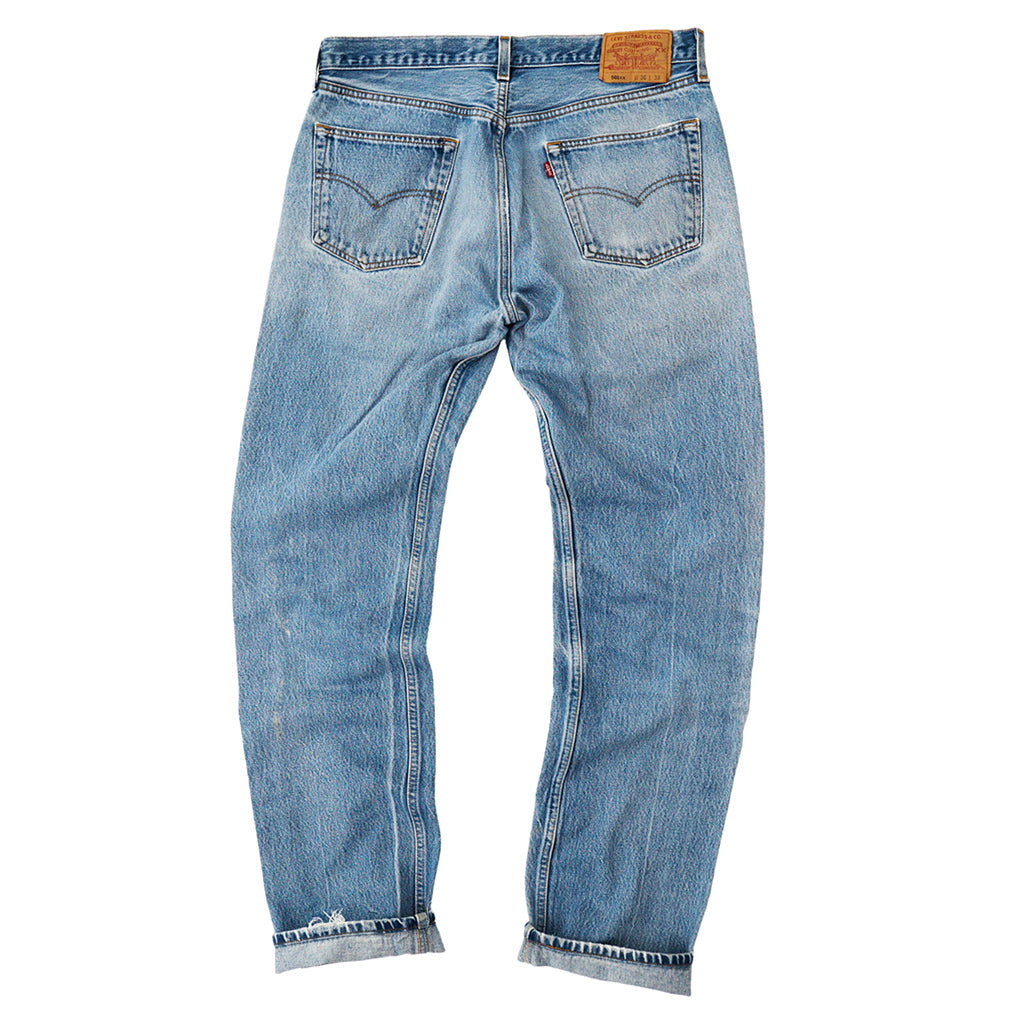 Transnomadica Levi's Button Fly 501 Lived In Jeans W33 x L34 Cuffed