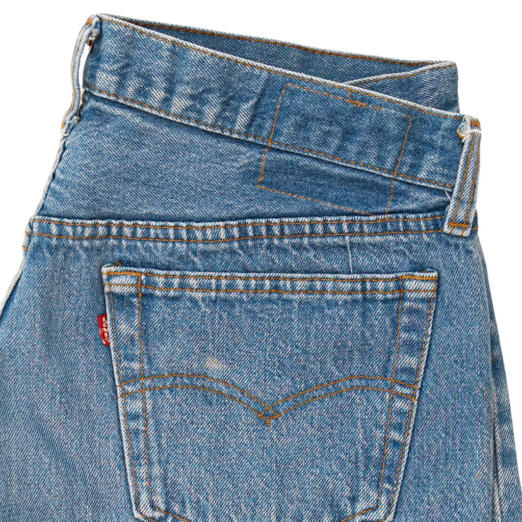 Transnomadica Levi's Button Fly 501 Lived In Jeans W33 x L31 Cuffed