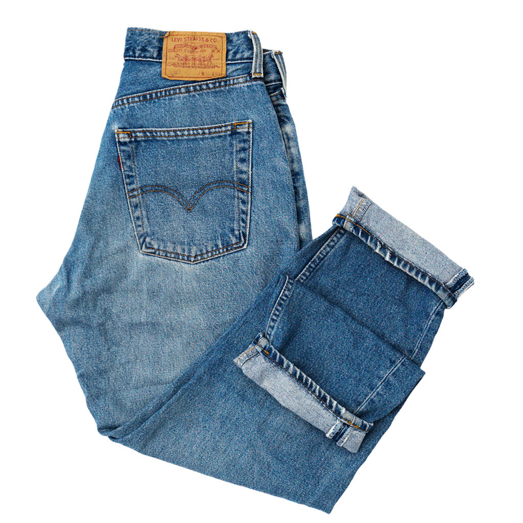 Transnomadica Levi's Button Fly 507 Jeans W30 x L29 cuffed