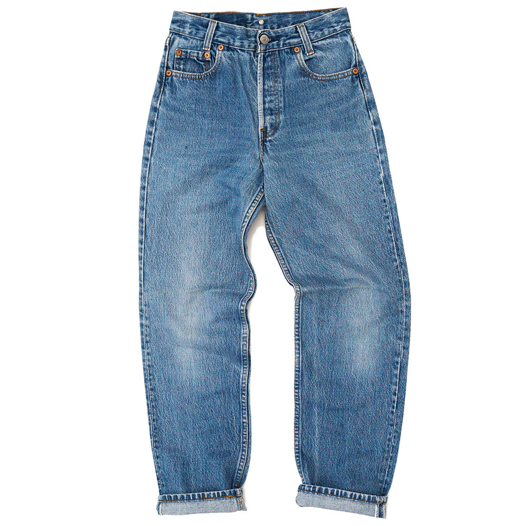 Transnomadica Levi's Button Fly 701 Jeans W25 x L28 cuffed