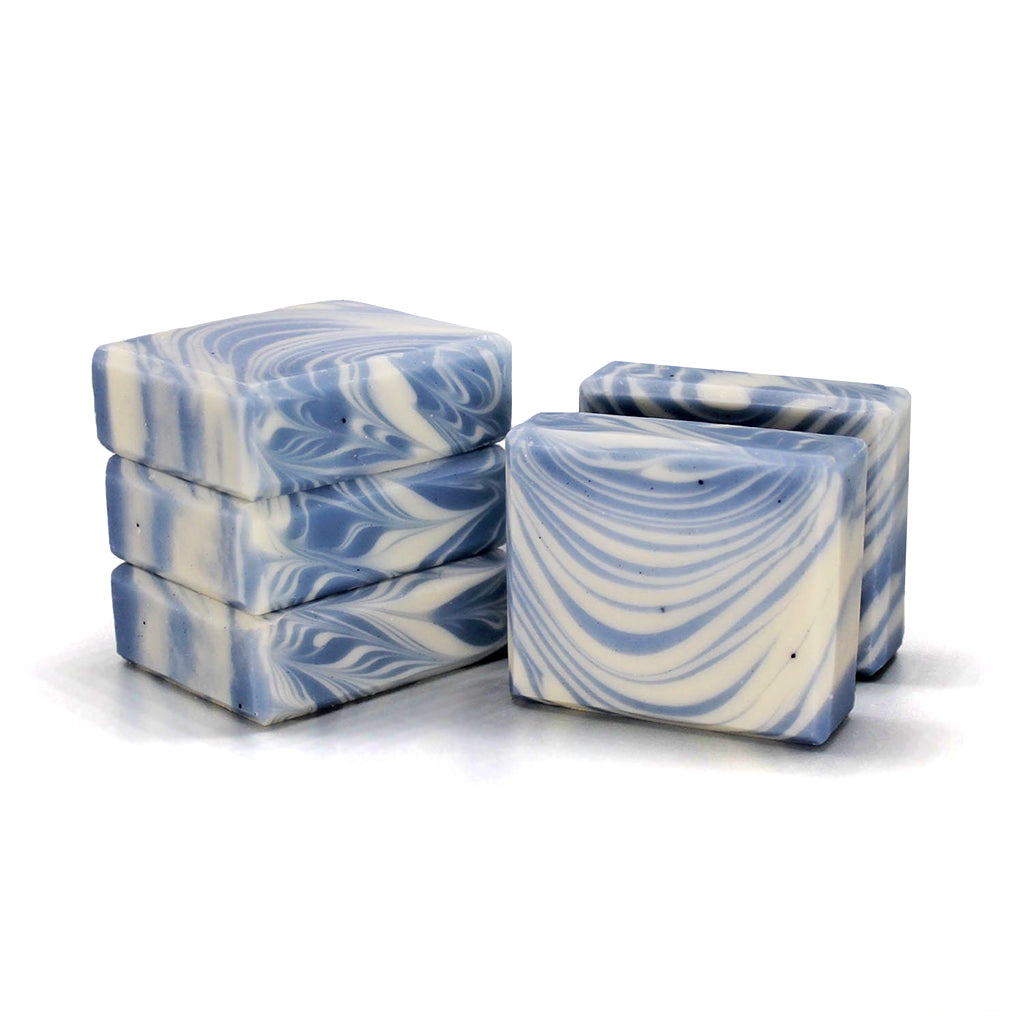 She's a Waterfall - Japanese Indigo, Lavender & Patchouli Scented Soap