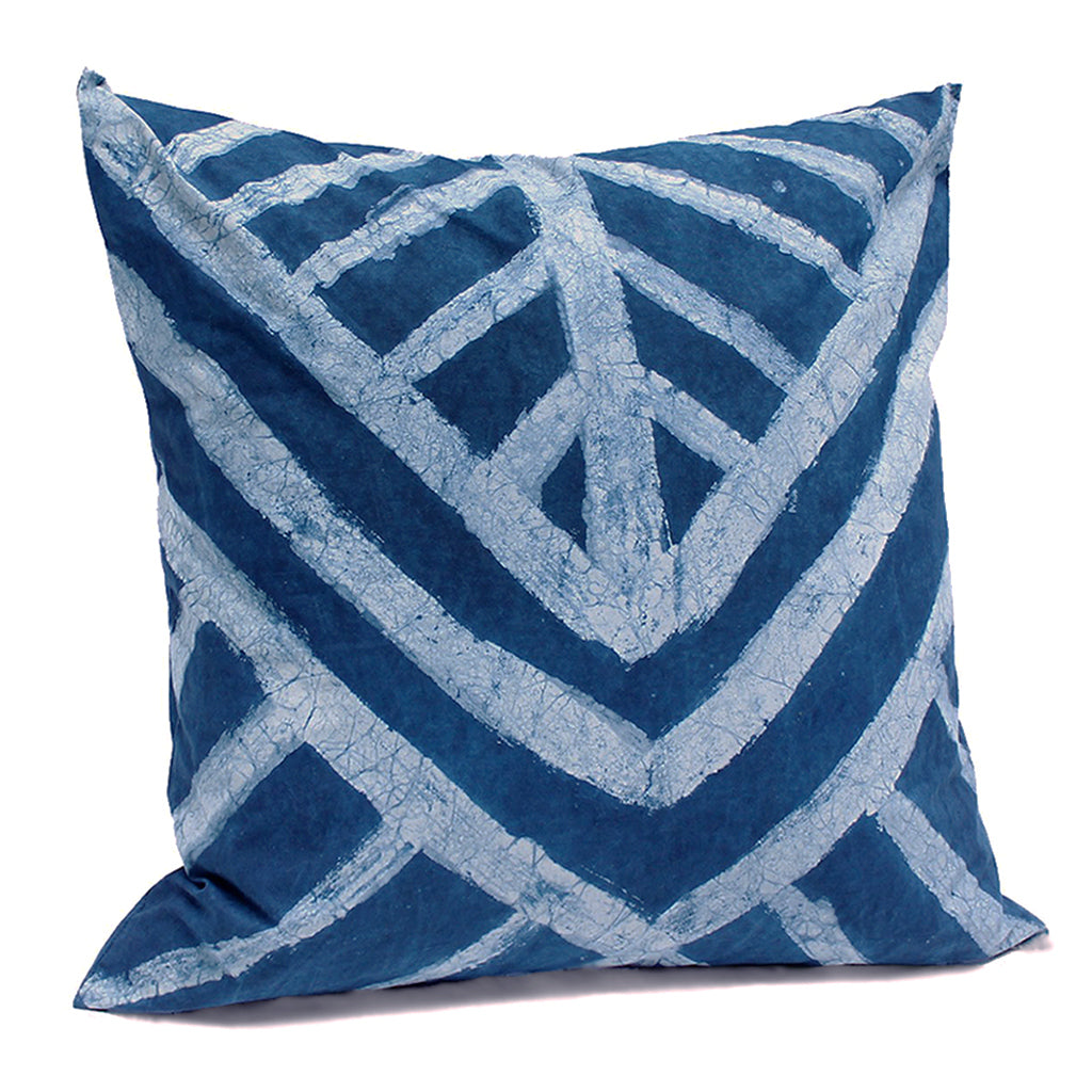 Hand Painted Pine Indigo Pillow