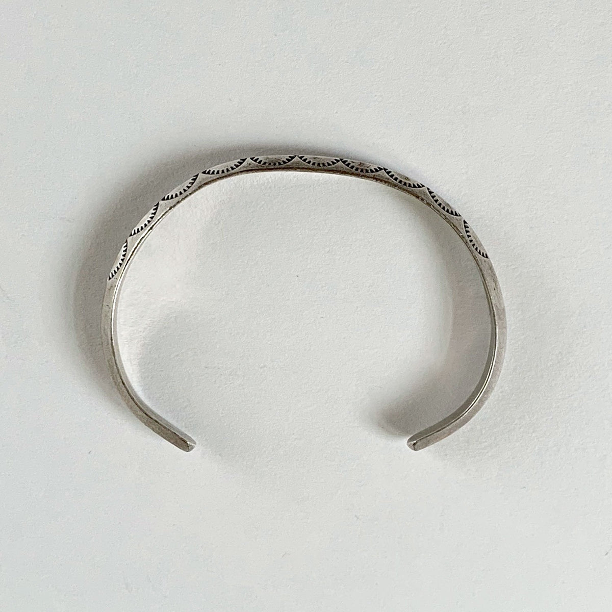 Vintage Sterling Carinated Cuff Bracelet