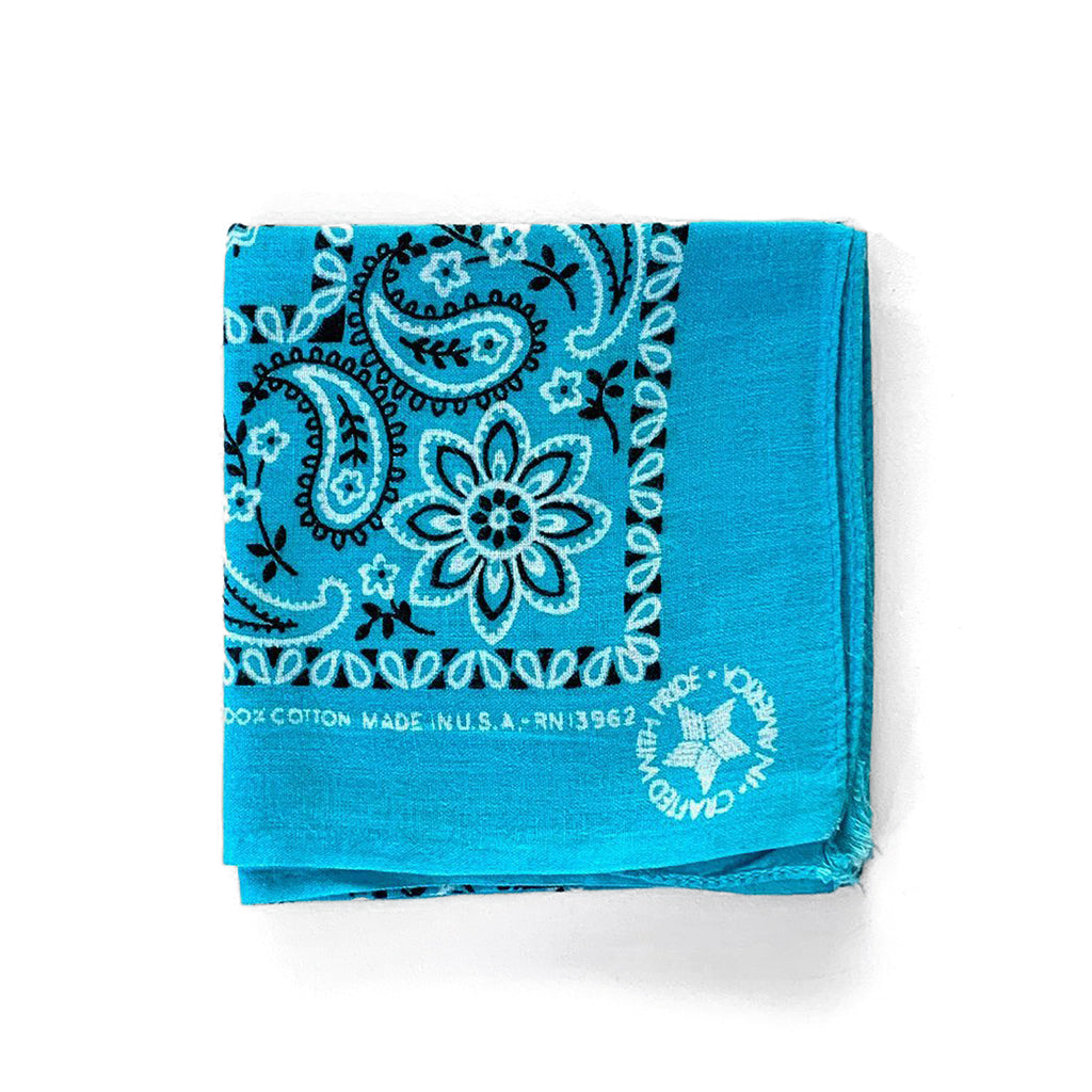 Vintage Paisley Bandana Light Blue