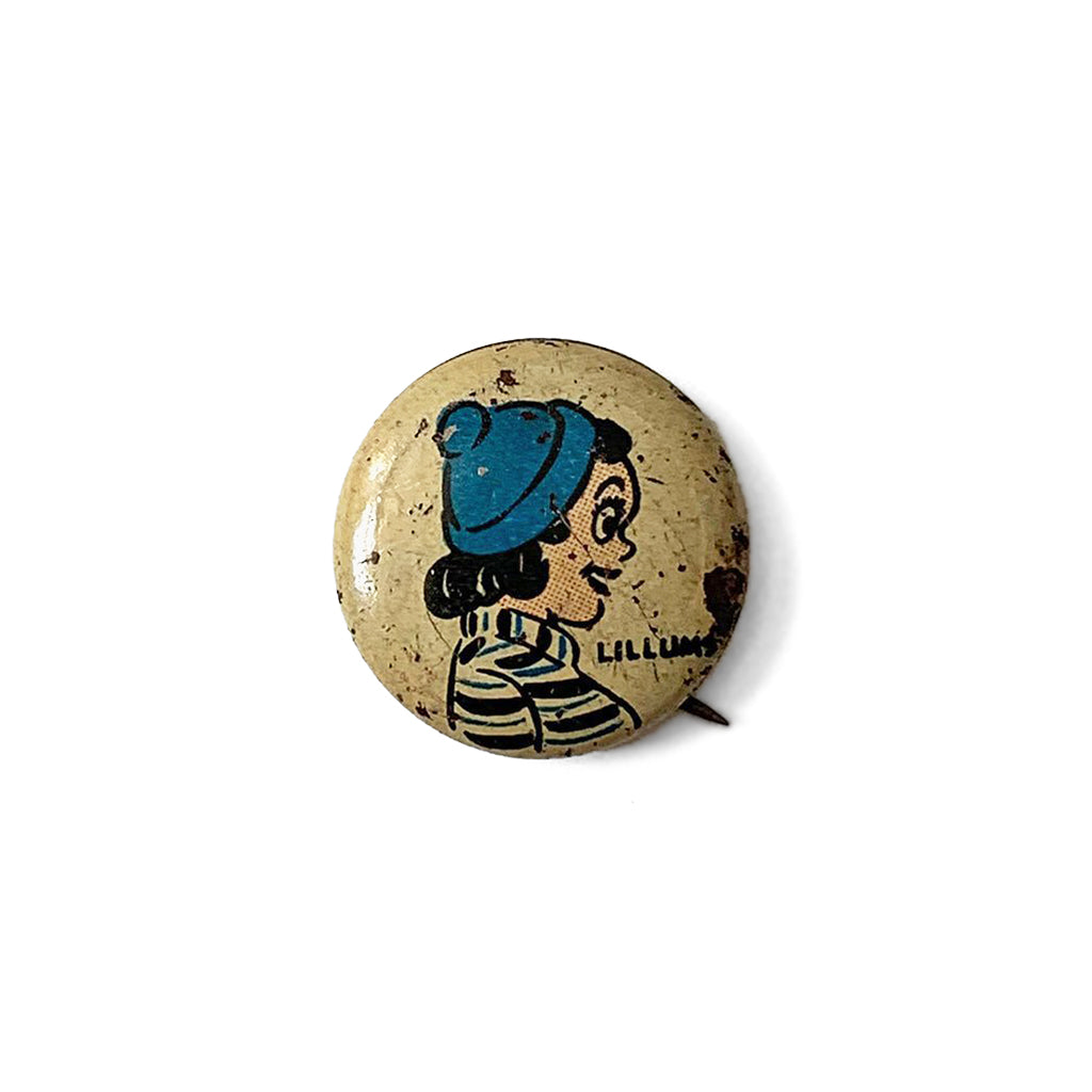 Vintage Kellogg's Pep Harold Teen Lillums Pin Button