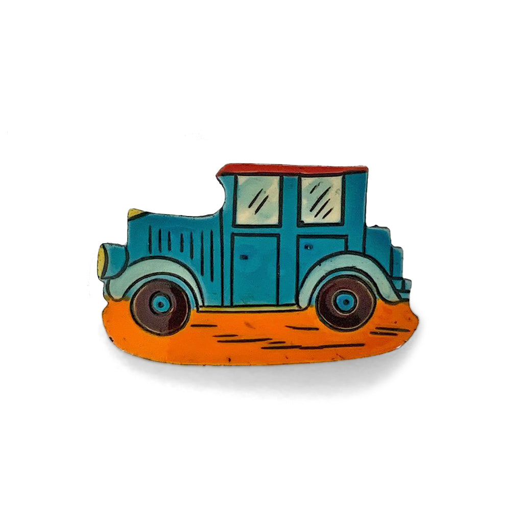 Vintage Hand Painted Classic Car Brooch