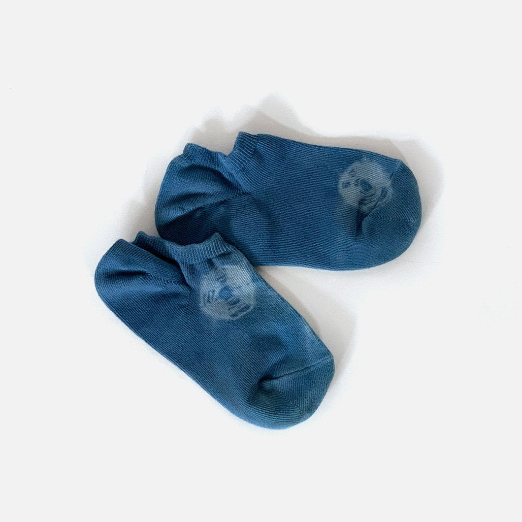 Natural Indigo Hand Dyed ankle Socks