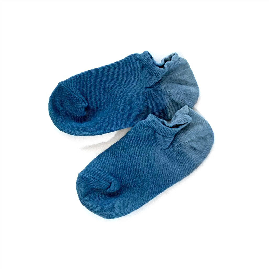 Natural Indigo Hand Dyed ankle Socks.