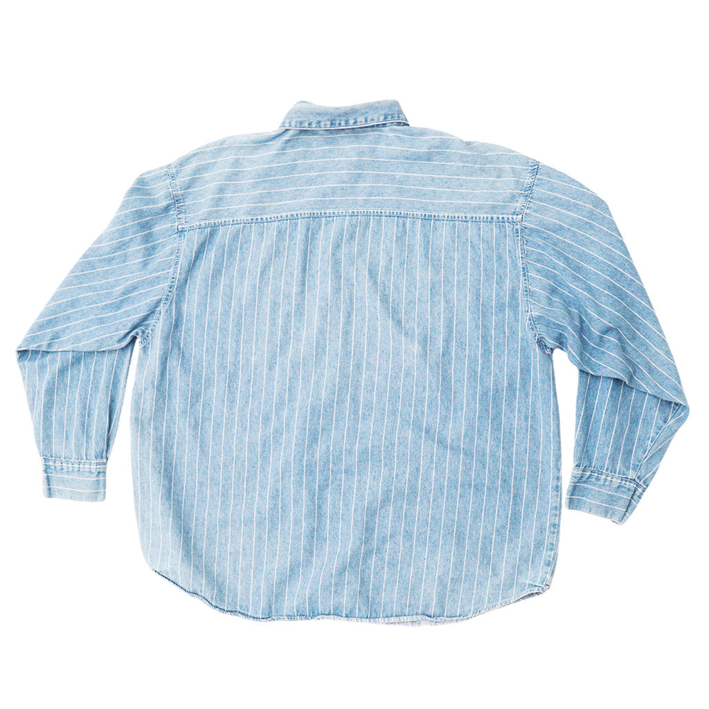 Transnomadica Psgitano Pinstripe Full Button Down Shirt Extra Extra Large