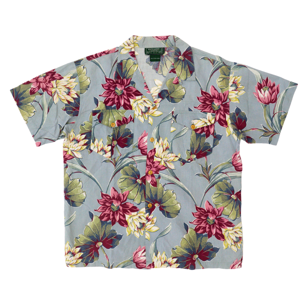 transnomadica Polo Country Floral Shirt Large