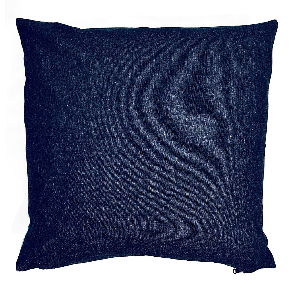 Indigo reverse of throw pillow
