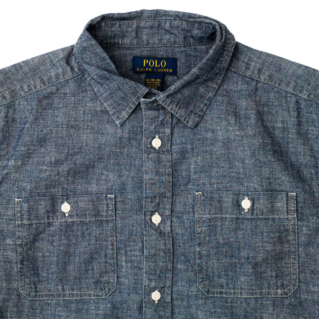 Transnomadica Ralph Lauren Polo Indigo Dyed Shirt Medium