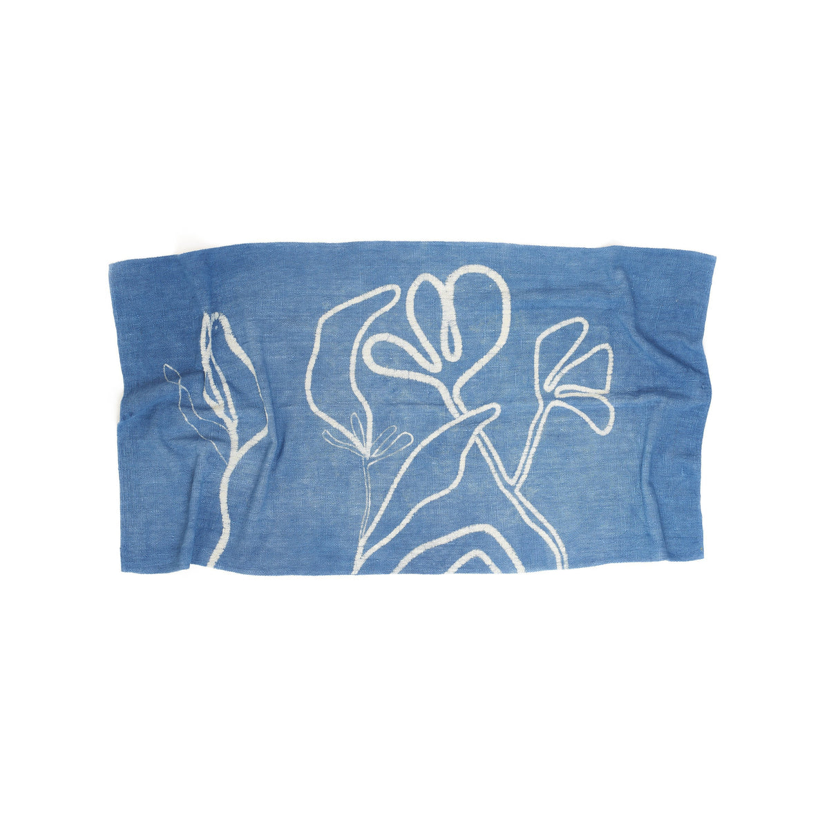 Natural Indigo Handpainted Towel