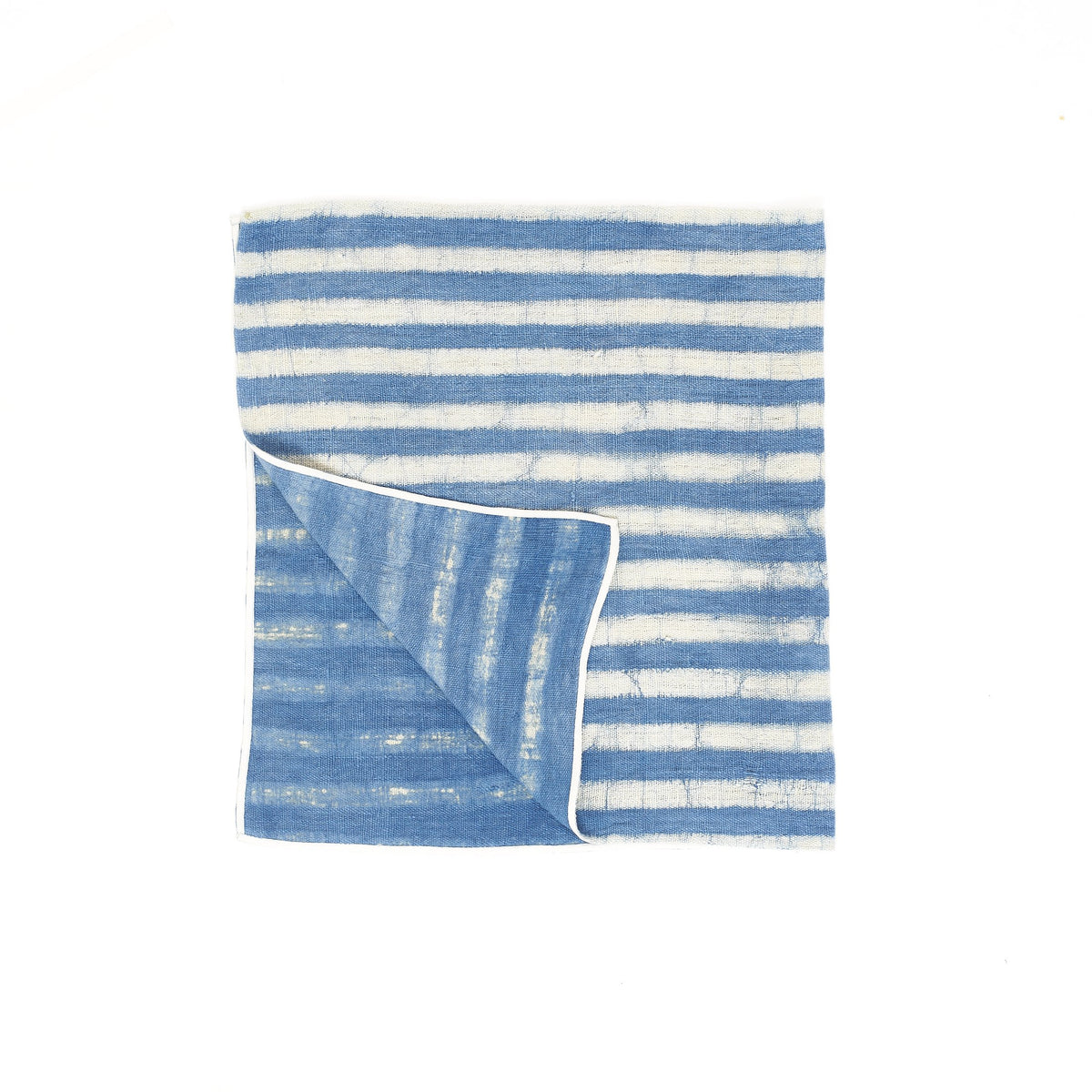 Natural Indigo Stripe Towel