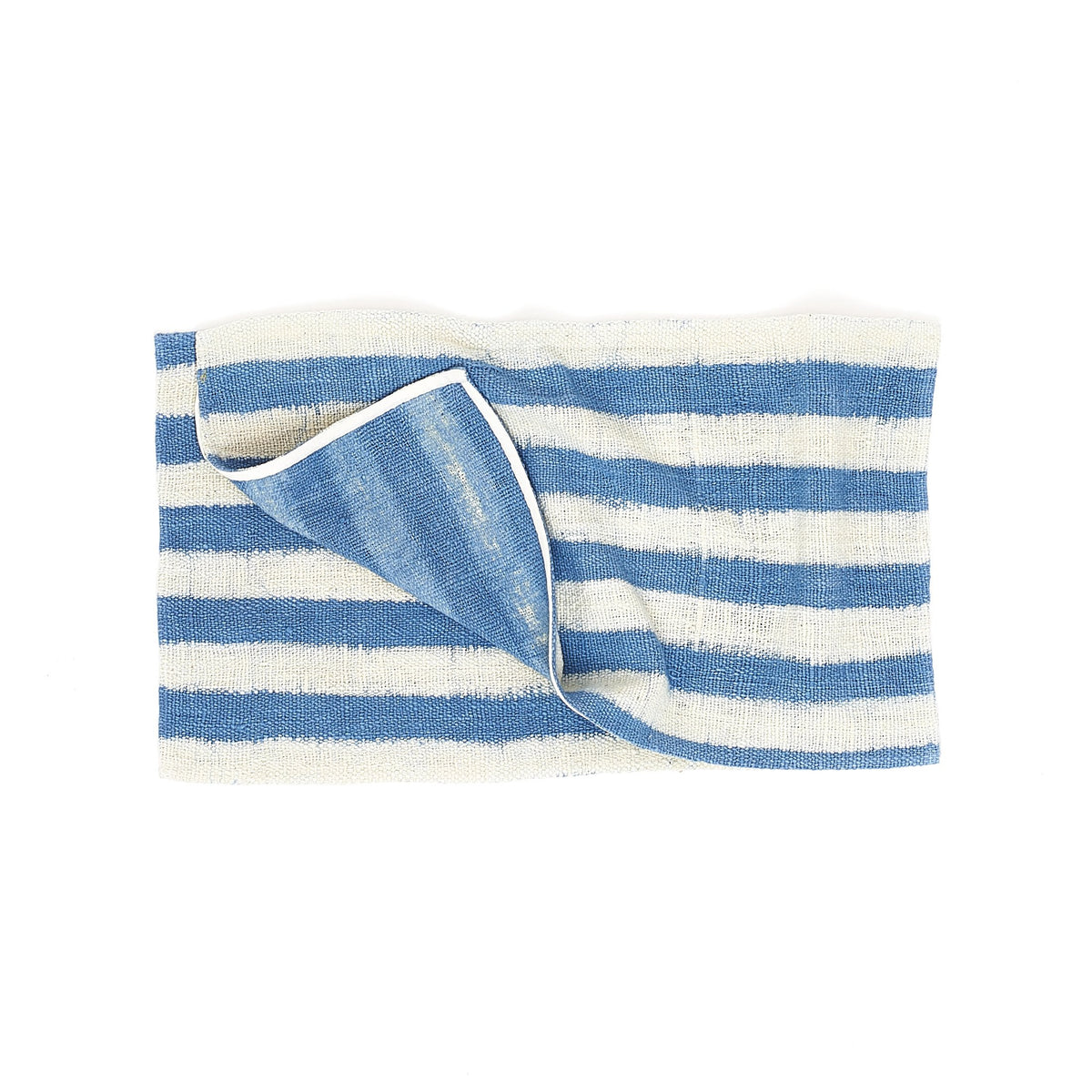 Natural Indigo Stripe Towel Small