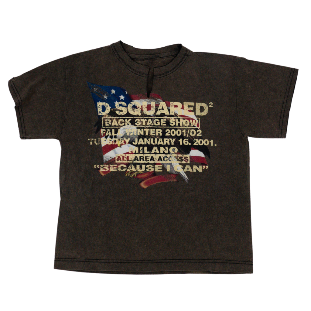 Transnomadica D'Squared Because I Can 2001 T-Shirt Extra Extra Small