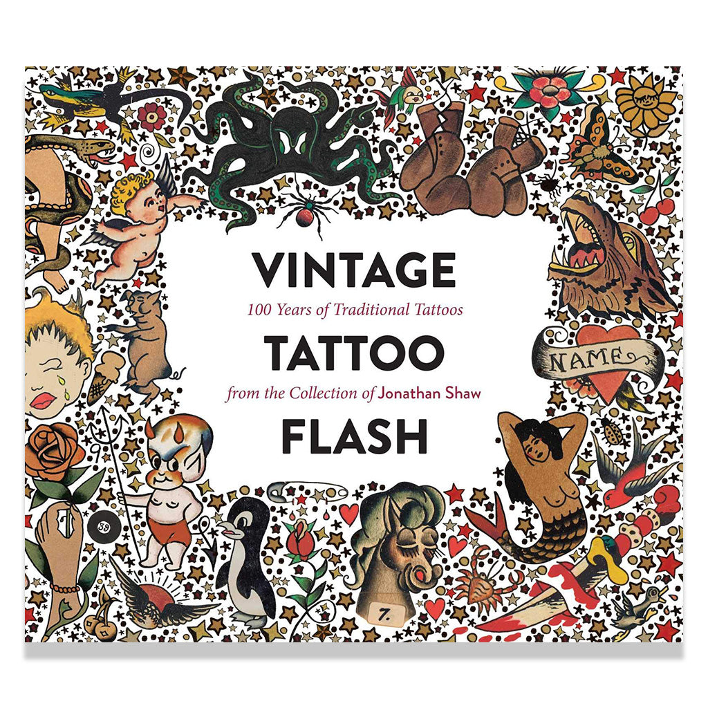 Front page of Vintage Tattoo Flash: 100 Years of Traditional Tattoos from the Collection of Jonathan Shaw