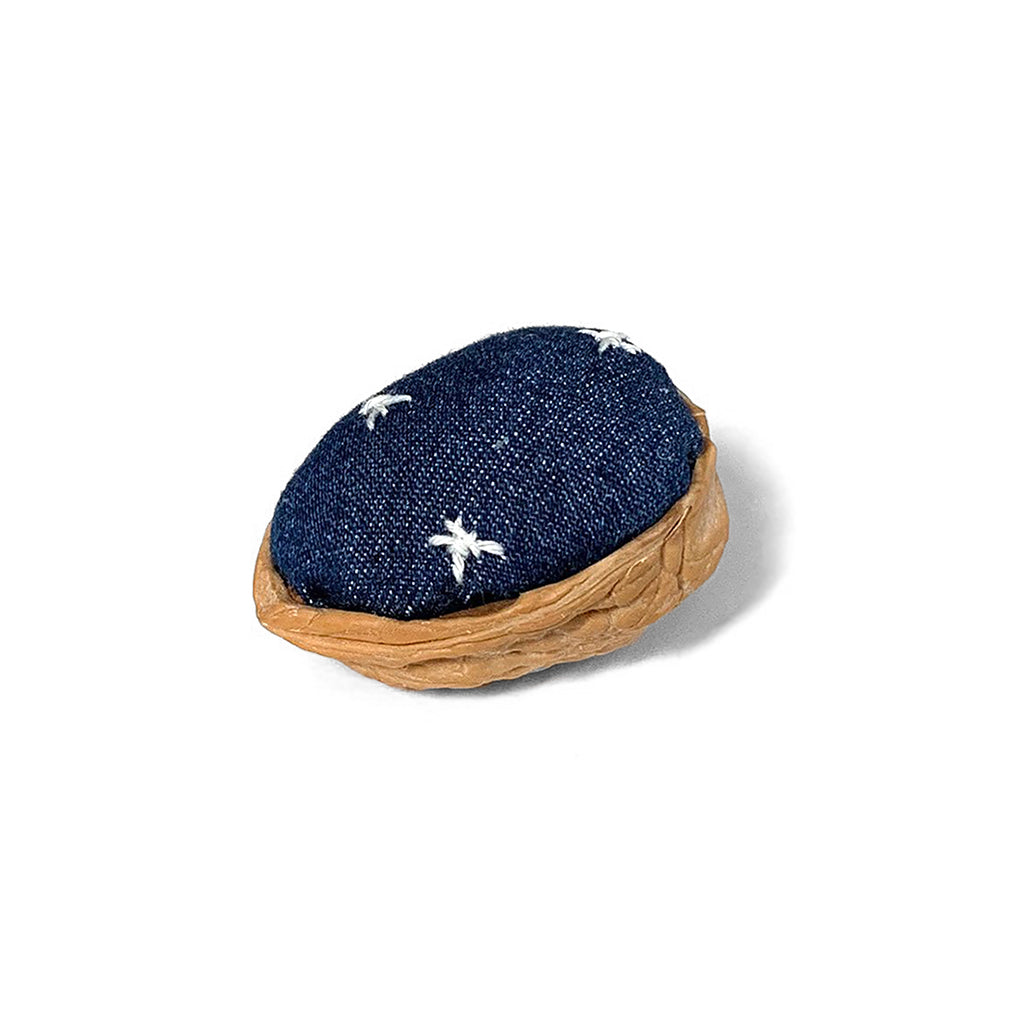 Handmade Upcycled Denim x Walnut Pin Cushion