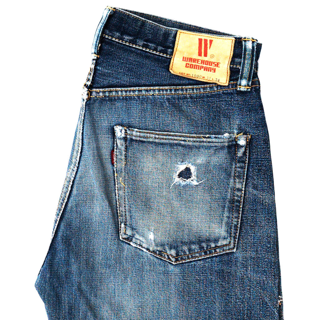 Transnomadica Warehouse Lot 1000 Selvedge Jeans W31 x L30 Cuffed