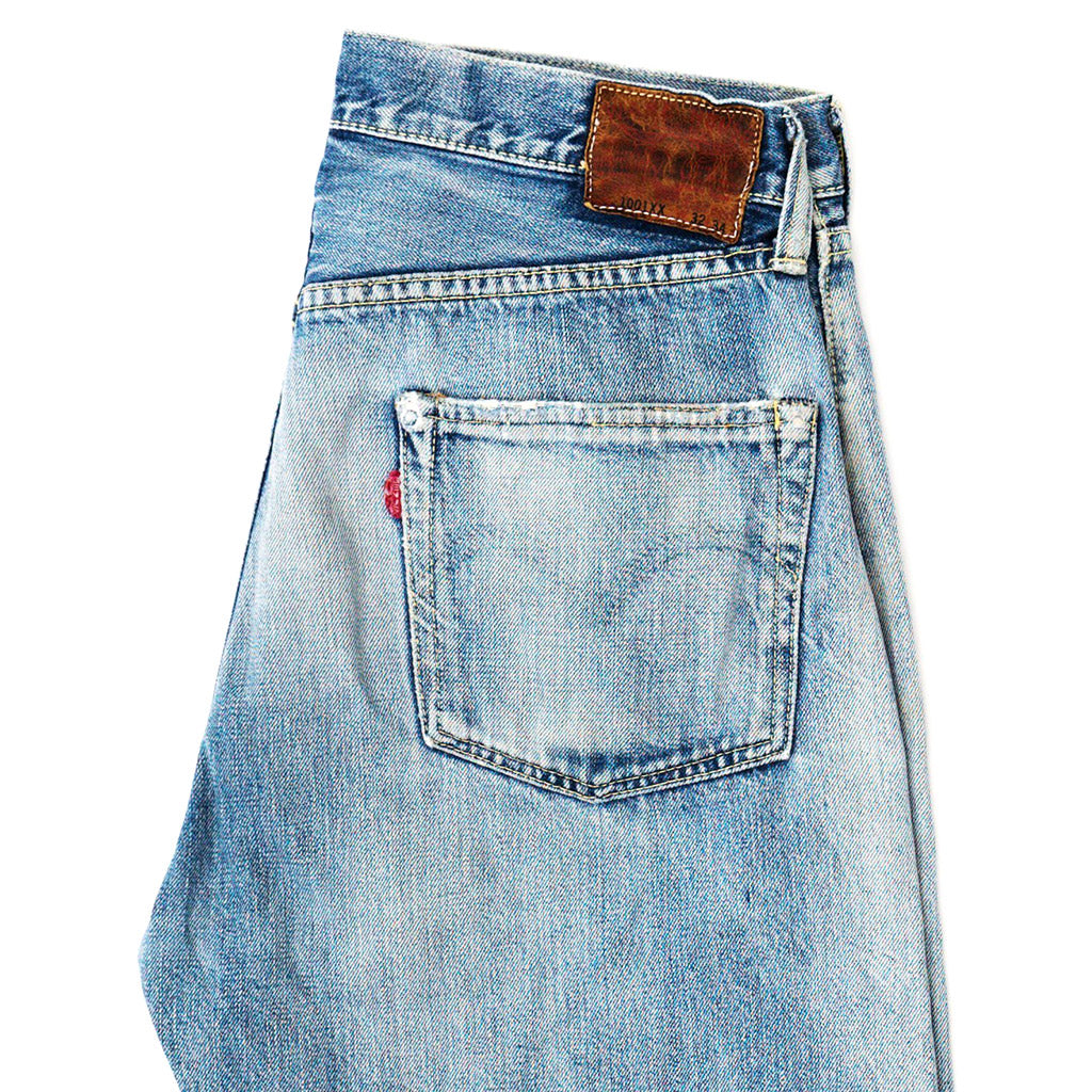 Transnomadica Warehouse Lot 1001XX Selvedge Jeans W30 x L30 Cuffed
