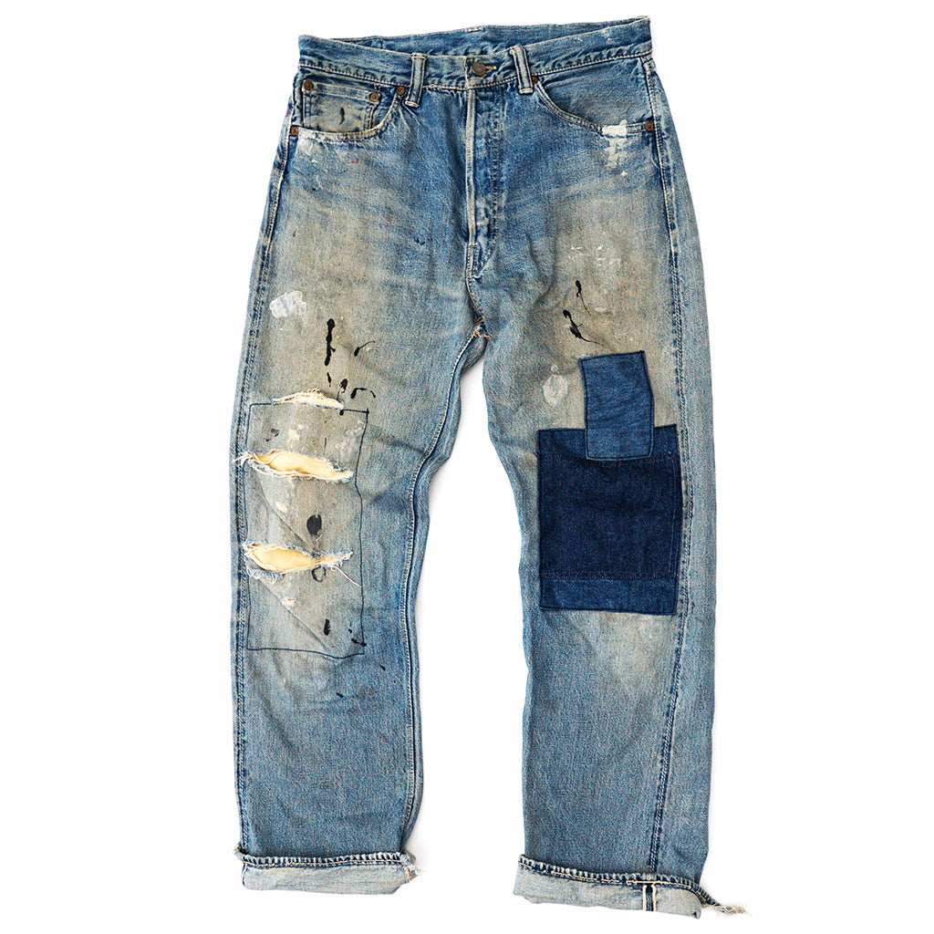 Transnomadica Warehouse Selvedge Jeans w/Patchwork W32 x L30 Cuffed