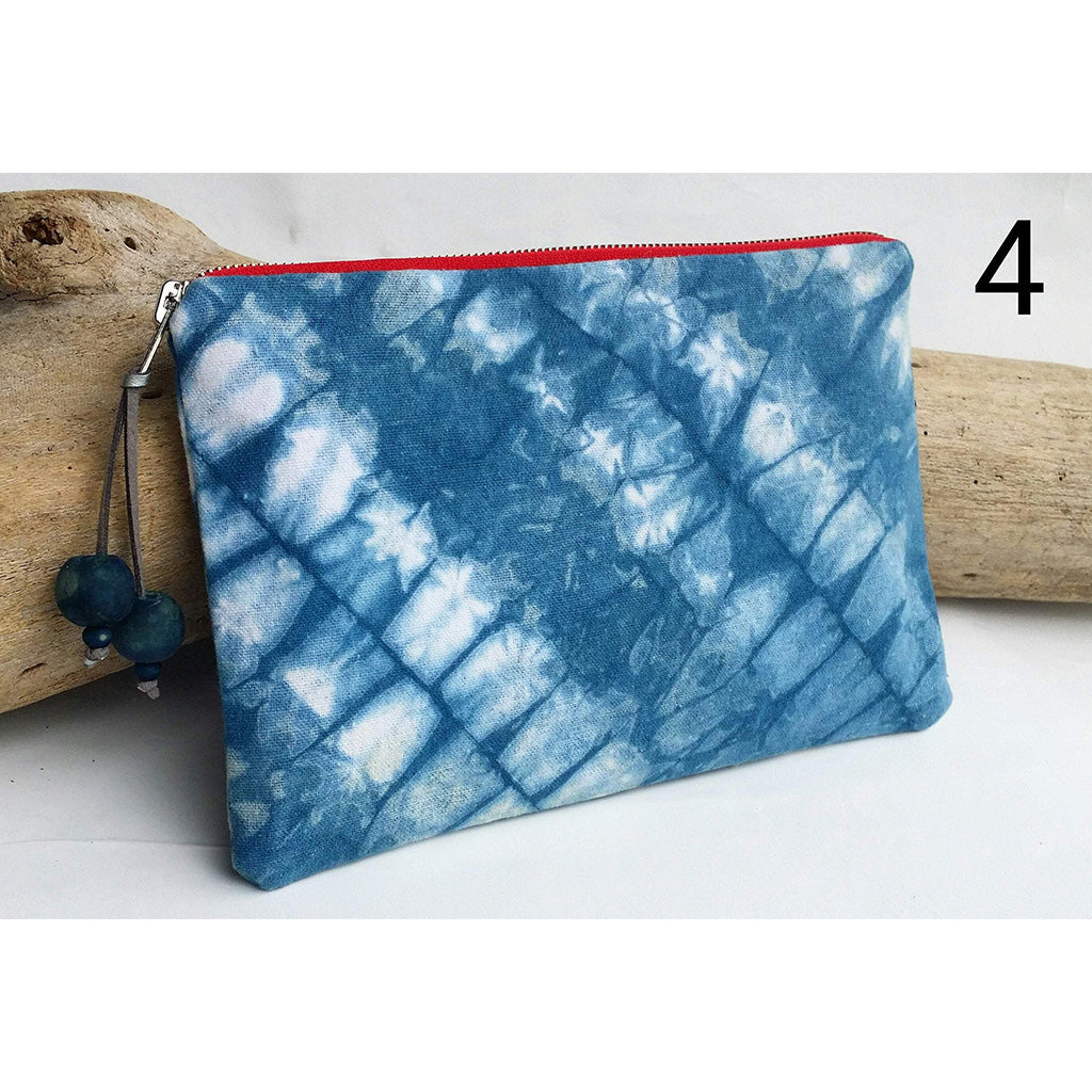 Shibori Small Zipper Clutch