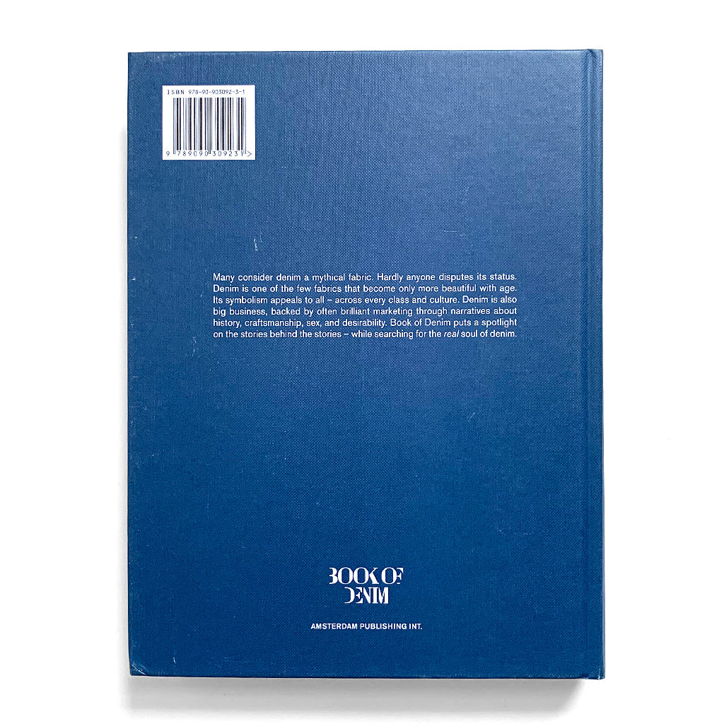 Back cover of Book of Denim Volume Two by Amsterdam Publishing Int.