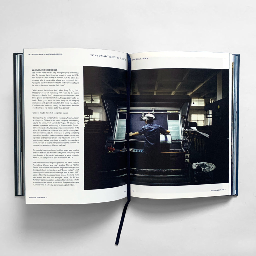 Inside pages of Book of Denim Volume Two by Amsterdam Publishing Int.