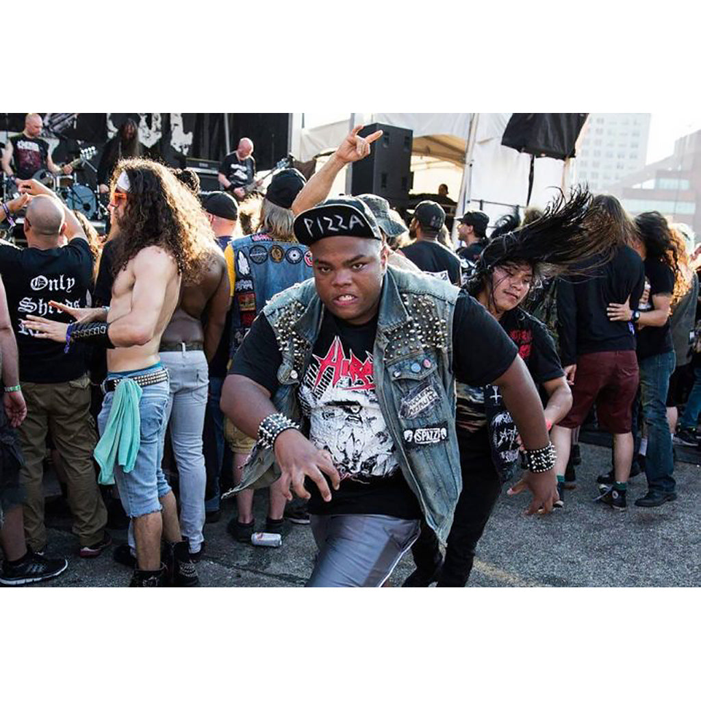 Slam dancing fans from the book Defenders of the Faith: The Heavy Metal Photography of Peter Beste