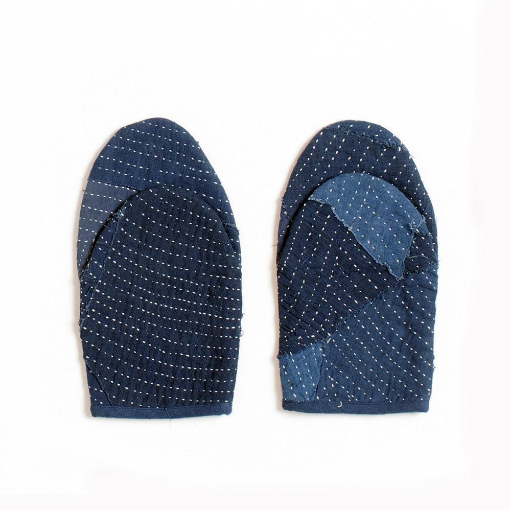 Reclaimed Indigo Quilted Oven Mitts