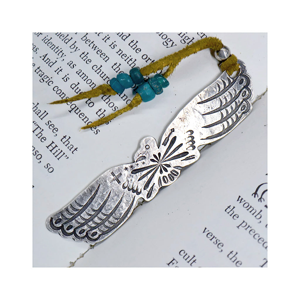 Sterling Silver Thunderbird Bookmark