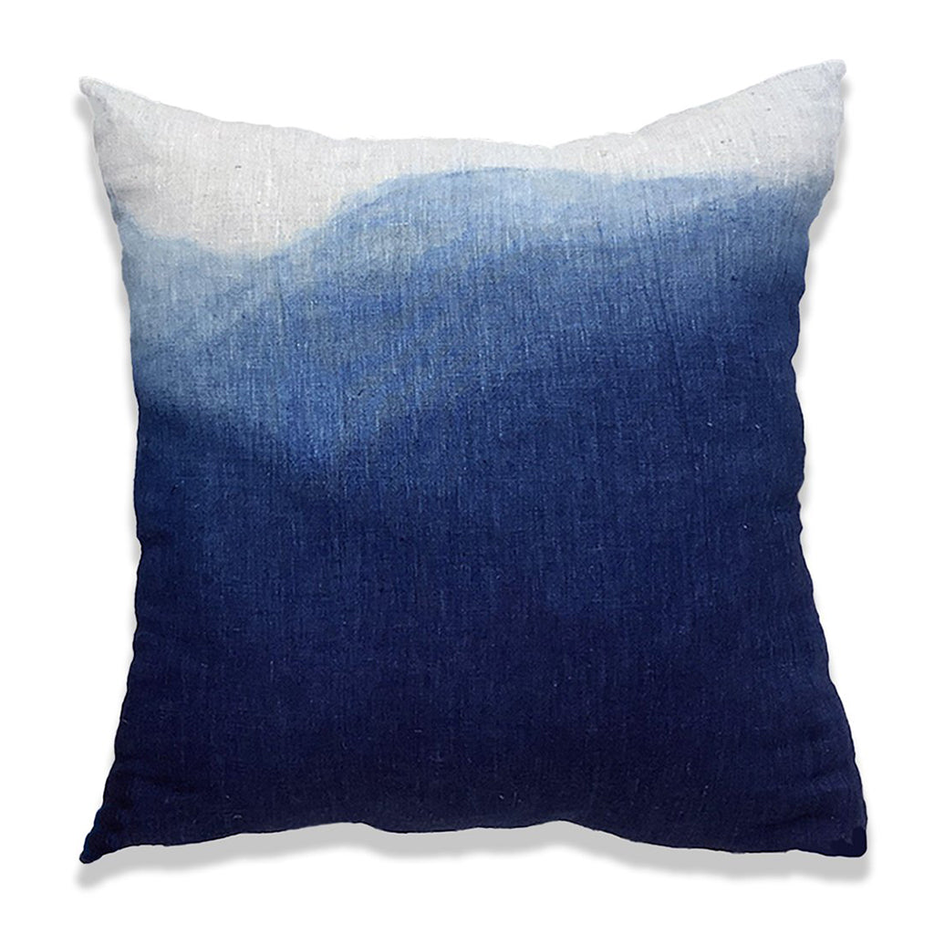 Dip Dyed 'Blue Mountains' Pillow Cover