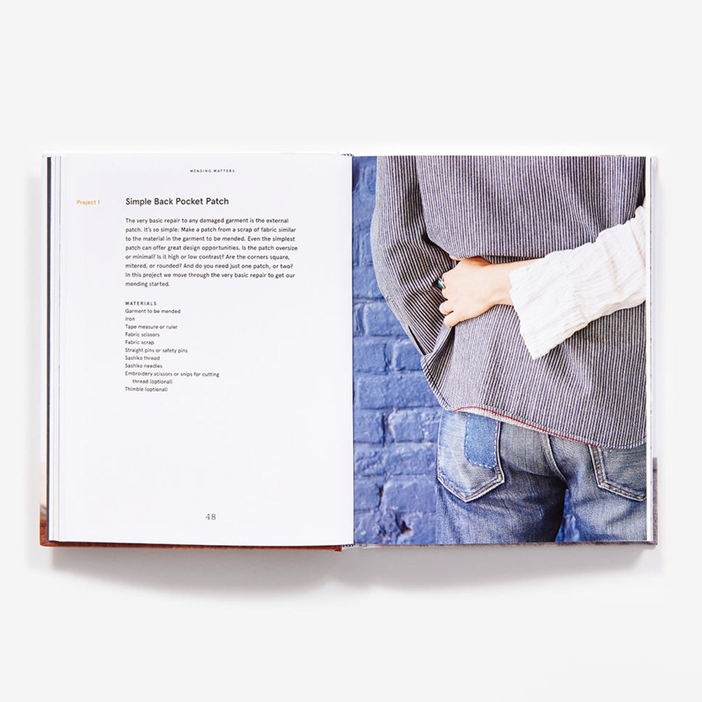 Inside page of Mending Matters: Stitch, Patch, and Repair Your Favorite Denim & More