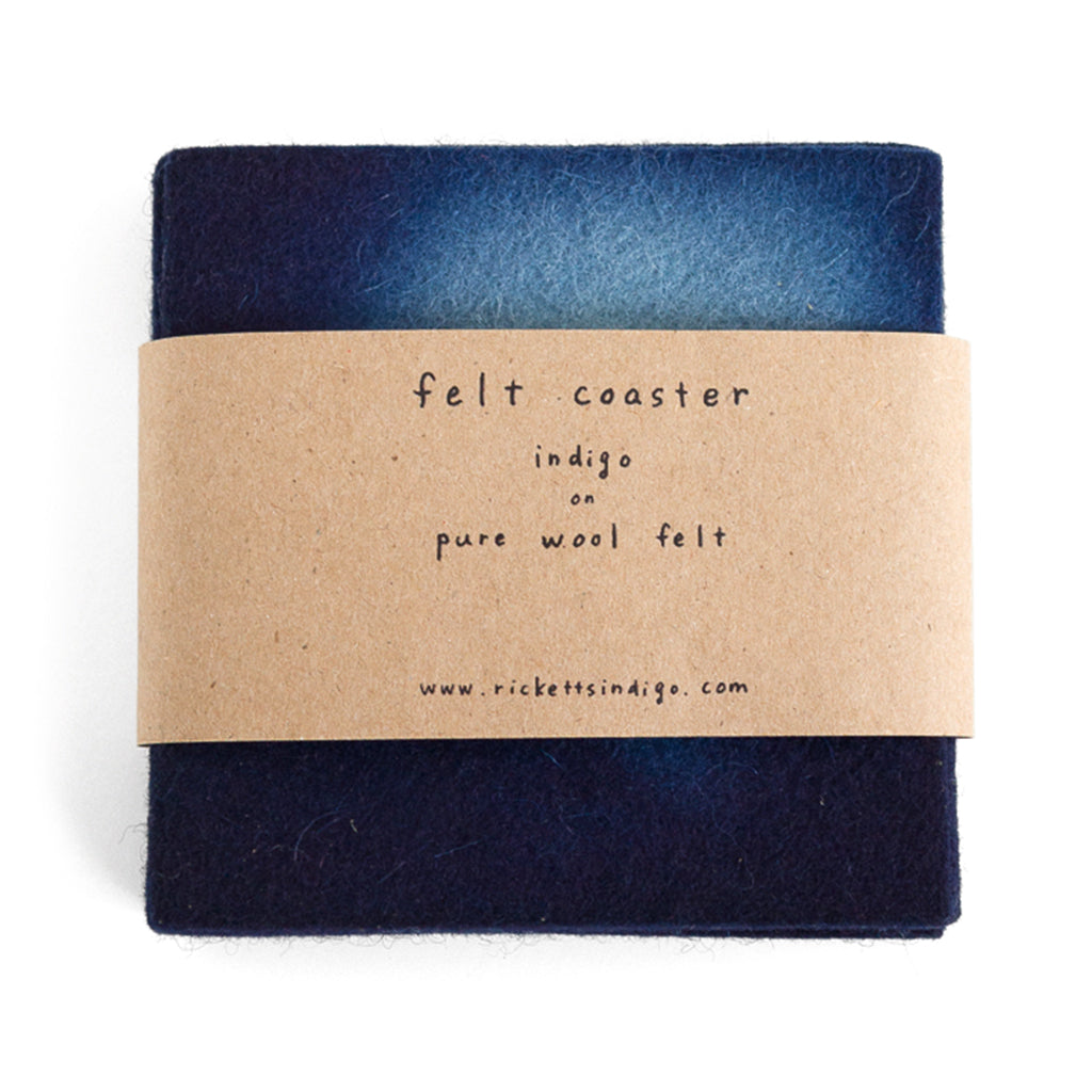 Indigo Dyed Wool Felt Coaster Set of 4 - by Ricketts