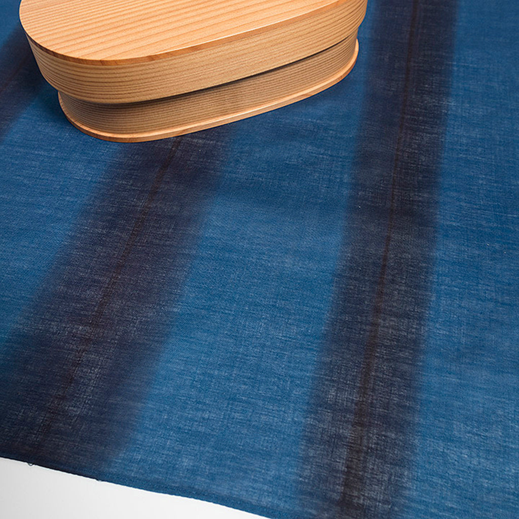 Indigo Dyed Striped Handkerchief by Ricketts